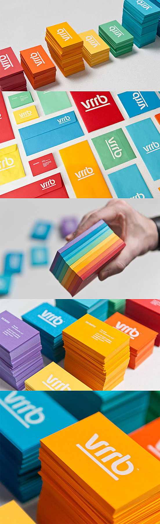 A Colourful Set Of Business Cards