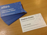 Allies Business Cards