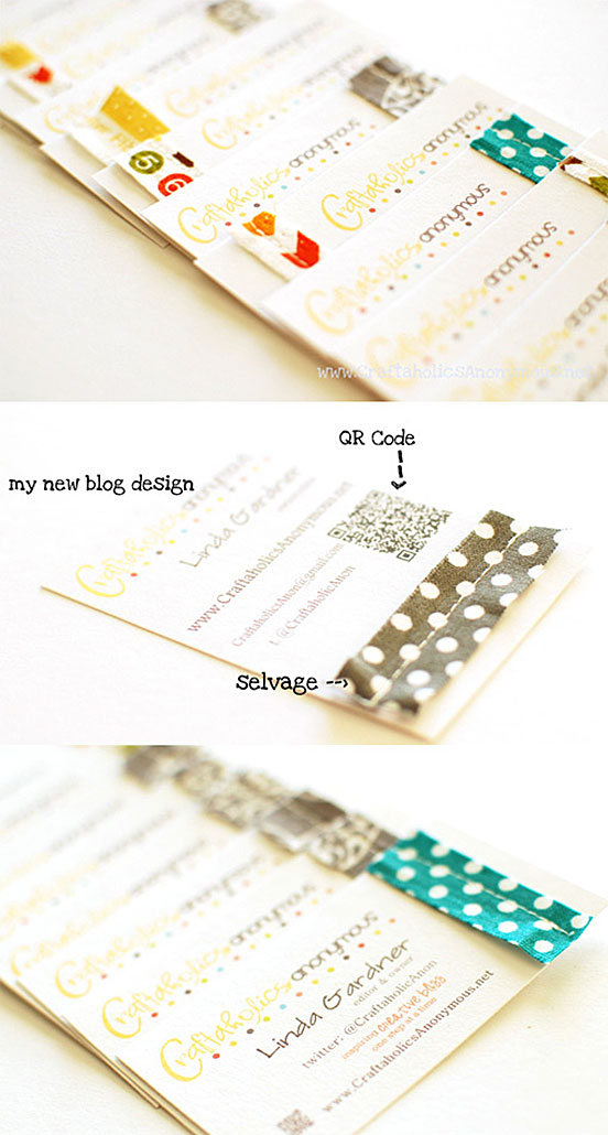 Crafty DIY Stitched Business Cards