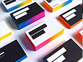 Creative Gradient Edge Painted Business Cards