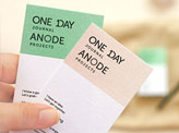 One Day Journal Business Cards