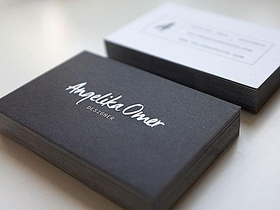Angelika Omer Business Cards