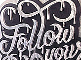 Follow Your Bliss 3D Lettering