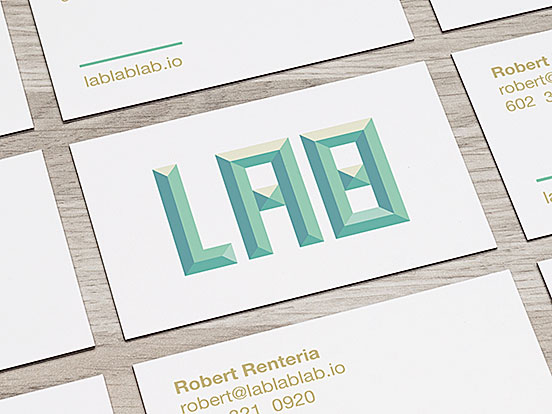 Lab Mark Business Cards