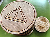 Laser Engraved Wooden Nickel