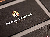 MH Foiled Business Cards