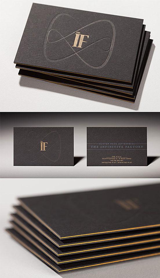 Sleek Black Edge Business Cards