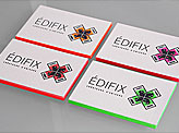 Striking Neon Edge Painted Business Cards