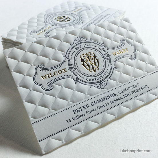 Pillow Embossed Business Card