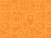 Basketball Repeat Pattern