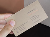 Hot Foil Stamped Business Card