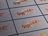 Modern Foil Stamped Business Cards