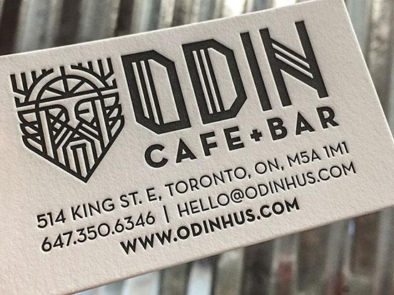 ODIN Cafe Business Cards