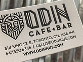 ODIN Cafe Business Cards