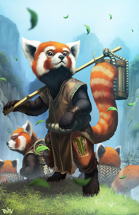 Red Panda Illustration Art The Design Inspiration