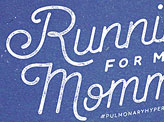 Running for ma'Momma!
