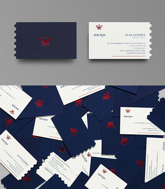 White Hot Foil Stamped Business Card