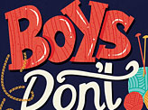 Boys Don't Knit Book Cover