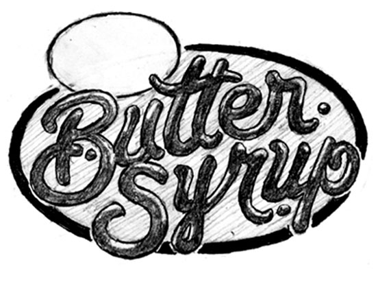 Butter Syrup Lettering WIP
