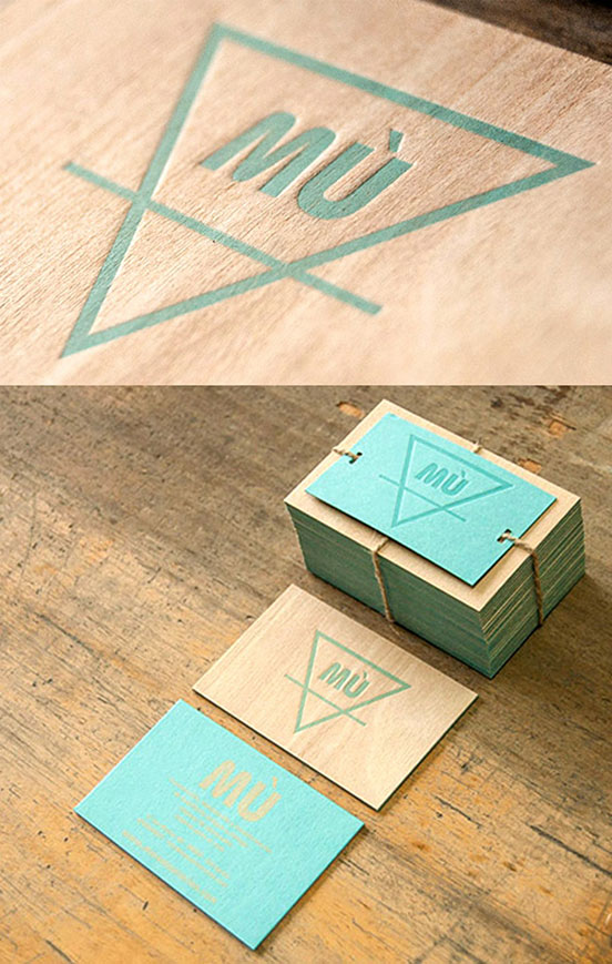 Unusual Letterpress Printed Wooden Business Card
