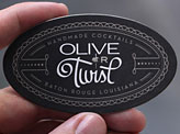 Oval Die Cut Business Card