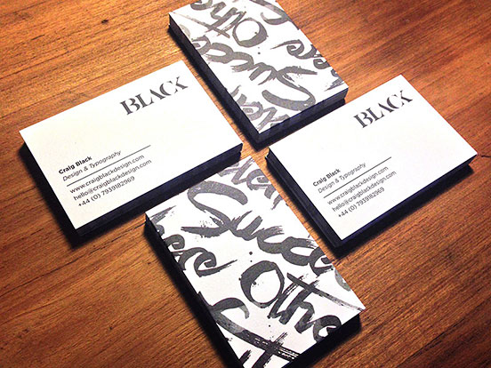 Self Branding Business Cards