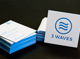3 Waves Business Cards