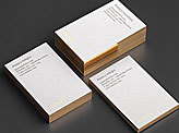 Luxury White And Gold Business Cards