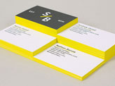 Minimalist Black And White Business Card