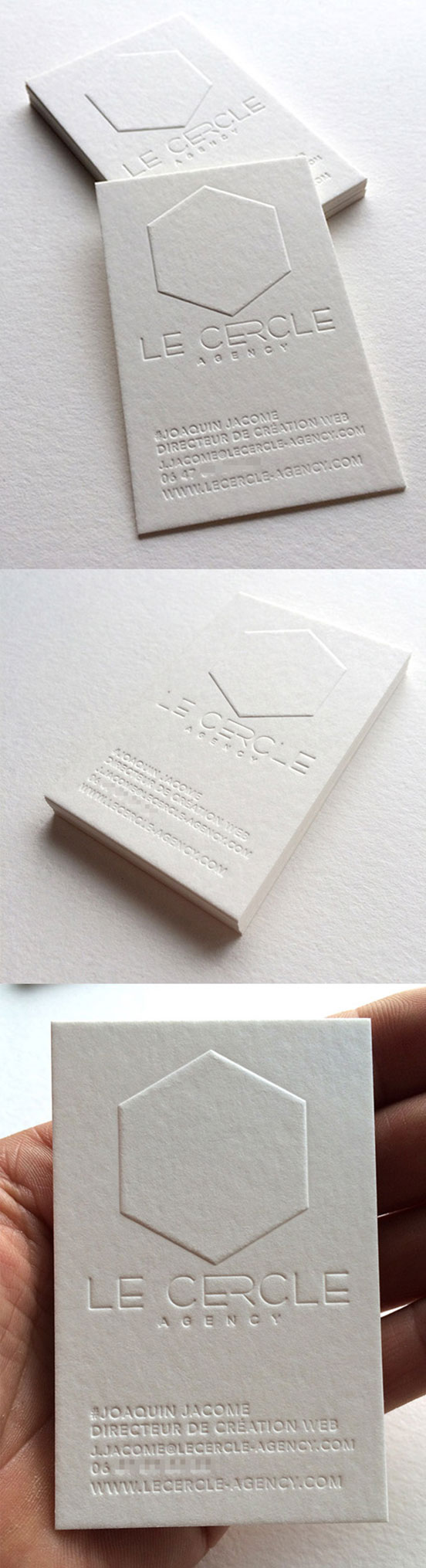 Minimalist Letterpress Business Card