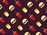 Burger Love Pattern