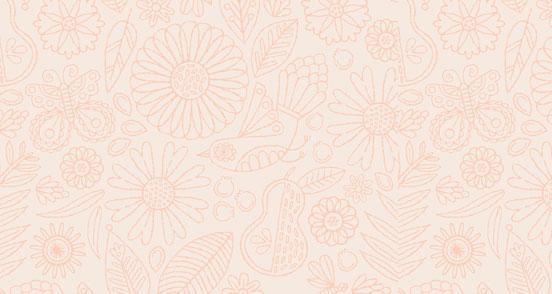 Past Modern Folk Floral Pattern