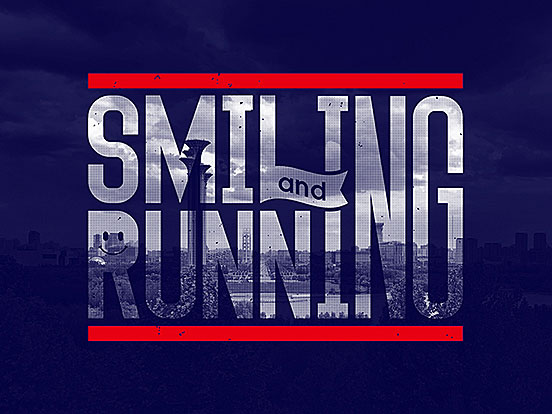 Smiling and Running