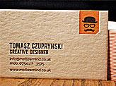 Striking Orange Business Card