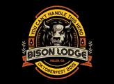 Bison Lodge Beer Label