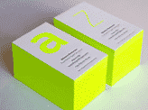 Bright Neon Business Card