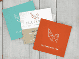 Flag and Wire Business Cards