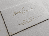 White Calligraphy Business Card