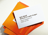 Colour Screen Printed Business Cards
