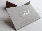 Copper Foil Stamped Business Cards