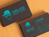 Free Black Textured Business Card