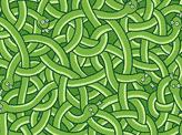 Little Green Snakes Pattern