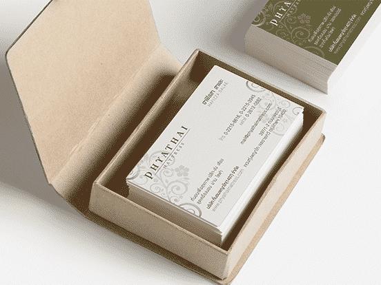 Phyathai mattress Business Card