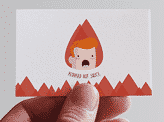 Redhead Hot Sauce Business Card