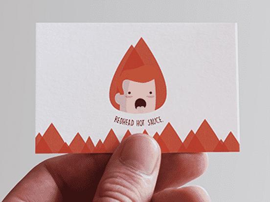 Redhead Hot Sauce Business Card