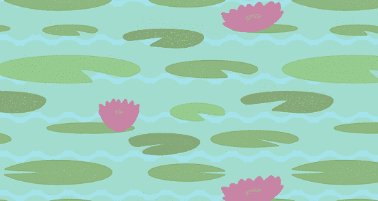 Vintage Lily Pad Pattern