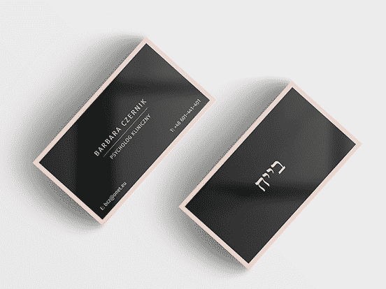 Black and Beige Business Card