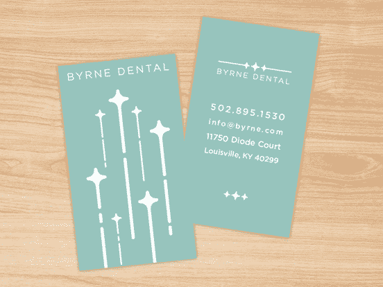 Byrne Dental Collateral Business Cards