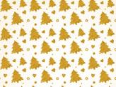 Golden Christmas Trees Pattern