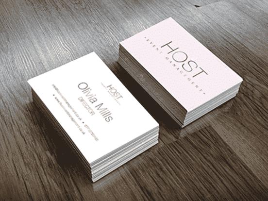 Host Event Management Business Cards
